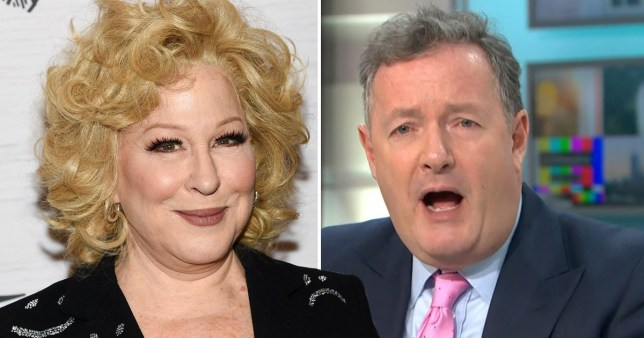 Bette Midler and Piers Morgan