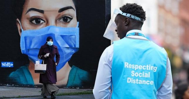 People wearing face masks during the coronavirus pandemic