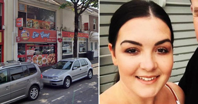 Picture shows cars outside a takeaway and Victoria Foulston, a civil servant whose car was nearly stolen with her and her daughter inside
