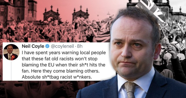 Labour MP Neil Coyle waded into the BBC Proms row calling Brexiteers 'fat old racists'.