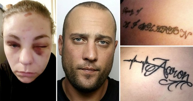 Aaron Wharton made Nicola Frost get a tattoo that read 'Property of AJ Wharton' in a horrific case of domestic abuse.