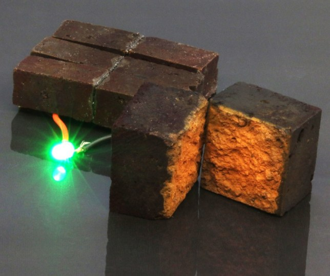 Scientists have found a way to store energy inside bricks (Credits: PA)