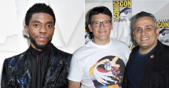 Chadwick Boseman and Russo brothers