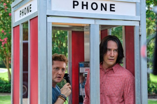 FILM: BILL AND TED FACE THE MUSIC and Keanu Reeves