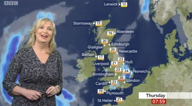 Carol Kirkwood BBc weather