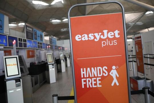EasyJet sign