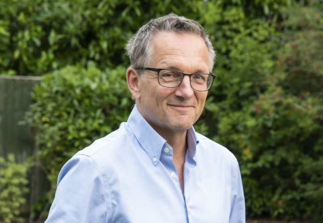 DR MICHAEL MOSLEY posing for new Channel 4 programme