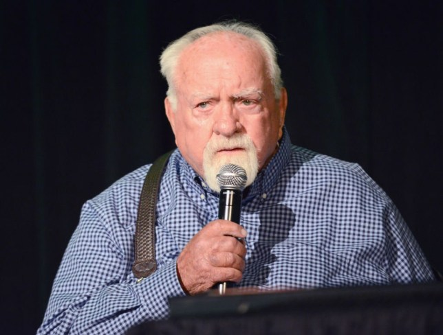Wilford Brimley attends Day 2 of the 2017 Son Of Monsterpalooza Convention held at Marriott Burbank Airport Hotel on September 16, 2017