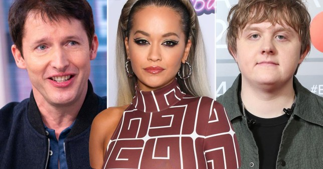 James Blunt, Rita Ora and Lewis Capaldi