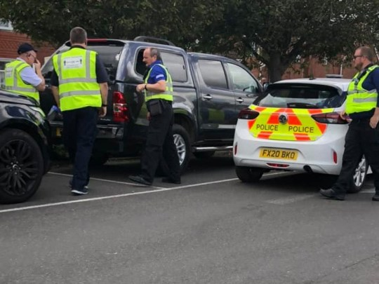 A shopper was left furious in Skegness when she spotted a Labrador stuck in a 4x4 in the sweltering heat.