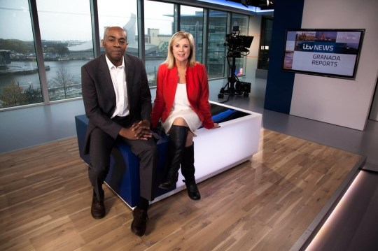 Granada Reports newsreaders Tony Morris and Lucy Meacock (Picture: ITV)