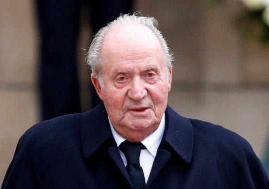L'ancien roi d'Espagne, Juan Carlos, part après avoir assisté à la cérémonie funéraire du Grand-Duc Jean de Luxembourg à la cathédrale Notre-Dame de Luxembourg, le 4 mai 2019.