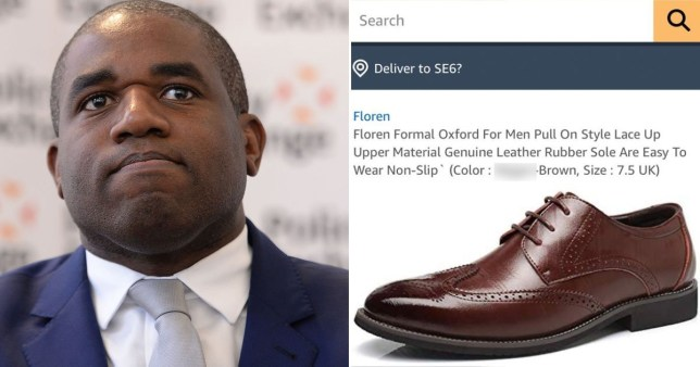 David Lammy hits out at Amazon racism after N-word used to describe brogues