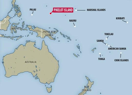 SOS on beach saved sailors stranded on tiny pacific island