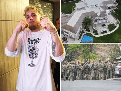 Jake Paul's LA house raided by the FBI as government vehicles seen arriving
