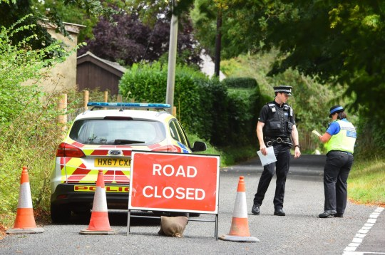 Scene pics from MacCallum Road in Enham, near Andover. A motorcyclist died after failing to stop for police after a man was shot at a property on MacCallum Road. ? Roger Arbon/Solent News & Photo Agency UK +44 (0) 2380 458800