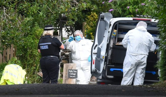 Scene pics from MacCallum Road in Enham, near Andover. Scenes of crime officers at the property. A motorcyclist died after failing to stop for police after a man was shot at a property on MacCallum Road. ? Roger Arbon/Solent News & Photo Agency UK +44 (0) 2380 458800