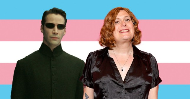 The Matrix director Lilly Wachowski and Keanu Reeves as Neo