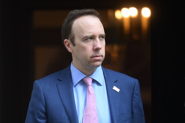 Health Secretary Matt Hancock leaves 10 Downing Street on April 9, 2020 in London, England.