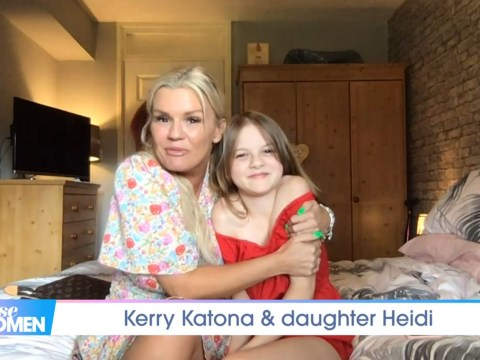 Kerry Katona supported by daughter as she recalls telling children about her past: 'I can't hide it from them'