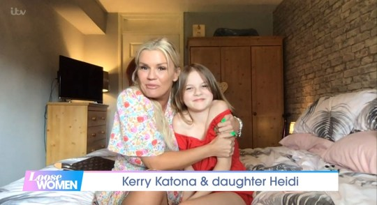 Kerry Katona and daughter Heidi