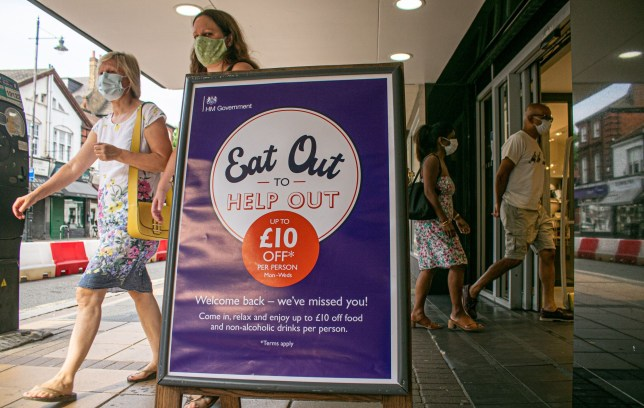 an eat out to help out sign