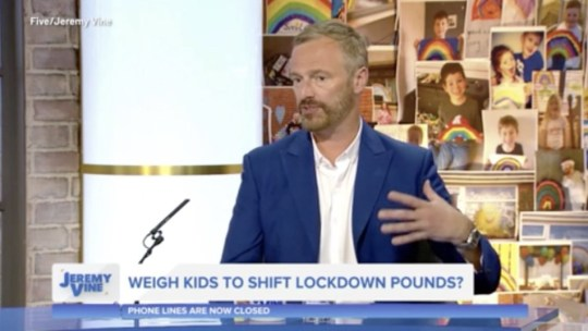 Jeremy Vine viewers slam 'disgusting' proposal to weigh kids in school obesity battle