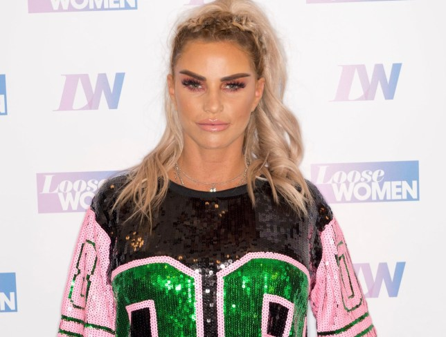 Editorial use only Mandatory Credit: Photo by Ken McKay/ITV/REX (10346980a) Katie Price 'Loose Women' TV show, London, UK - 25 Jul 2019 Katie Price announces her engagement to Kris Boyson exclusively on today's Loose Women.
