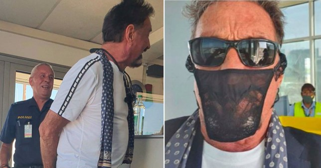 John McAfee claims to be detained for wearing a thong as face covering