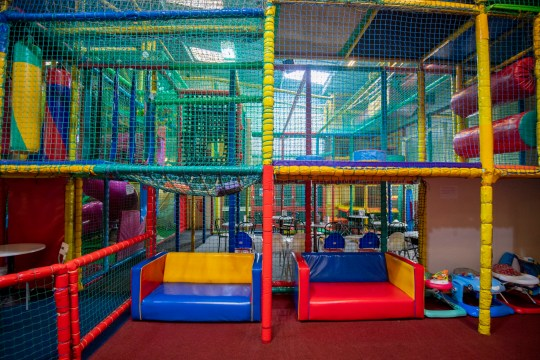 MANCHESTER, ENGLAND - JULY 20: General view of an empty play area at Round The Twist children's play centre on July 20, 2020 in Manchester, England. Soft Play Centres and playgrounds have yet to reopen during the easing of the coronavirus lockdown. The Association of Play Industries (API) is urging the Prime Minister give some indication of when children will be able to return. (Photo by Anthony Devlin/Getty Images)