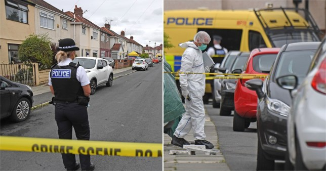 Merseyside Police murder scene on Moorland Road, Maghull after a 45 year old woman was found fatally injured.