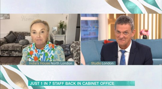 Mandatory Credit: Photo by ITV/REX (10746879e) India Willoughby, Matthew Wright 'This Morning' TV Show, London, UK - 17 Aug 2020