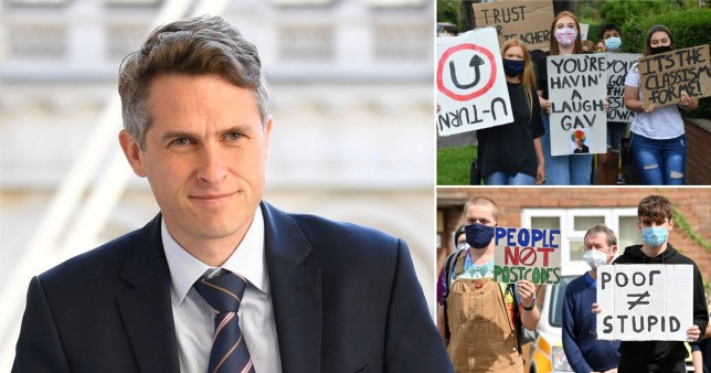Gavin Williamson came under pressure over the results