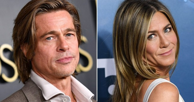 Brad Pitt pictured alongside Jennifer Aniston