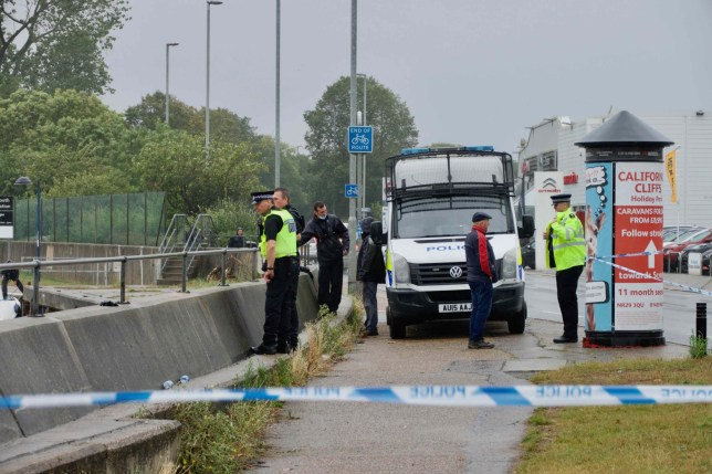 Police at the scene after the recovery of the body of a woman aged in her 30s