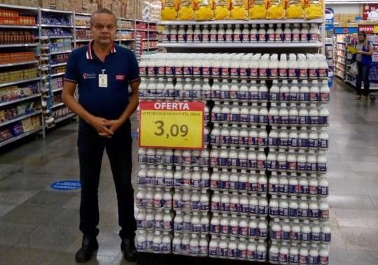 Victime de Carrefour Brasil Cavalcante de Manoel Mois, promoteur commercial de 59 ans Photo publiée par GloboNews