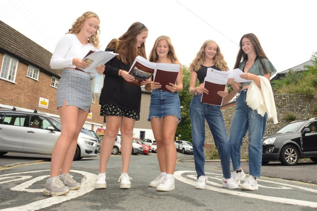 Students receive their GCSE results