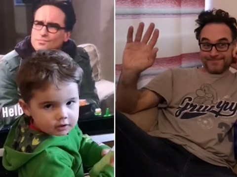 Little boy thinks his dad is Leonard Hofstadter from The Big Bang Theory and it's easy to see why