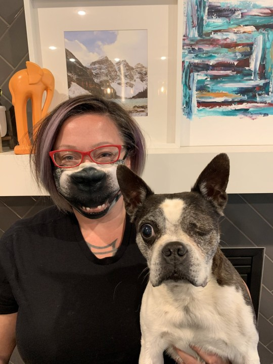Danielle Schule and her dog Ragley
