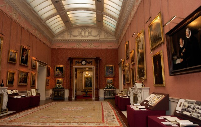 A general view of a room containing fine art at Buckingham Palace
