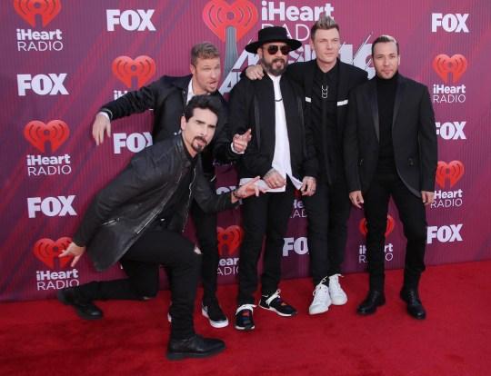 Backstreet Boys - AJ McLean, Kevin Richardson, Brian Littrell, Nick Carter, Howie Dorough.