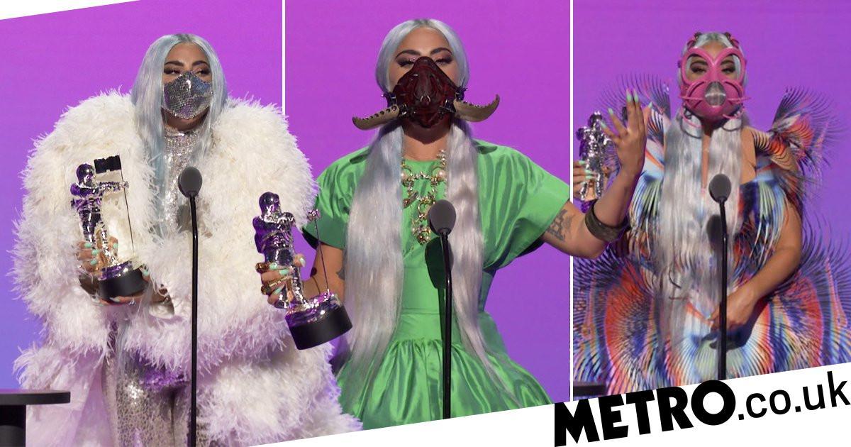 Lady Gaga S Mtv Vmas Outfit Changes All Came With Matching Face Masks The News Villa