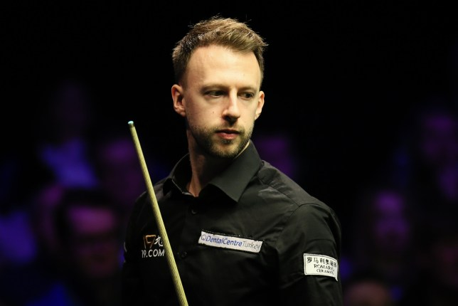 Judd Trump of England reacts during the final match against Ronnie O'Sullivan of England on day seven of 2019 Northern Ireland Open at Waterfront Hall on November 17, 2019 in Belfast, Northern Ireland. (Photo by Tai Chengzhe/VCG via Getty Images)