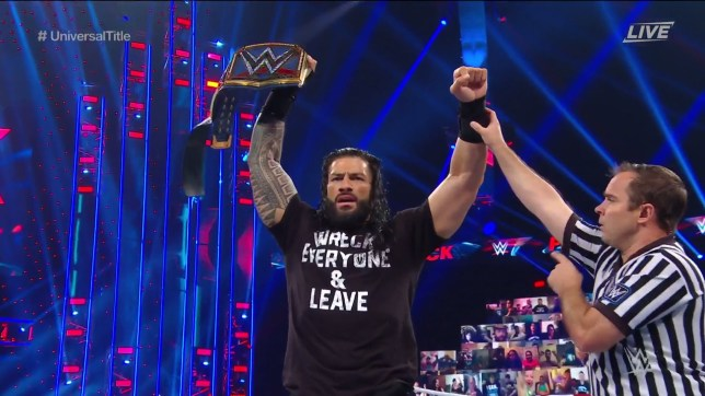 WWE superstar Roman Reigns wins the Universal Championship at Payback