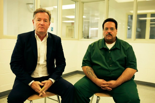 Television programme : SERIAL KILLER WITH PIERS MORGAN Thursday 13th September 2018 on ITV Pictured: Pier Morgan with convicted serial killer Alex Henriquez at the Sullivan Correctional Facility in New York State In this new documentary which is part of ITV?s Crime & Punishment season, Piers Morgan goes behind bars to find the truth about a serial killer called Alex Henriquez, who is serving 75 years for three murders yet maintains his innocence. Henriquez, convicted nearly 30 years ago for murdering two girls aged 10 and 14 and a 21-year-old woman in New York has never spoken publicly about his crimes, and Piers aims to get beneath his lies and deceit to uncover the real story.
