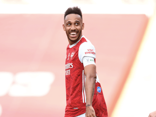 Pierre-Emerick Aubameyang looks on during Arsenal's FA Cup final victory over Chelsea