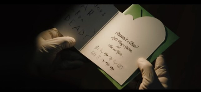 The Riddler's clue in The Batman trailer