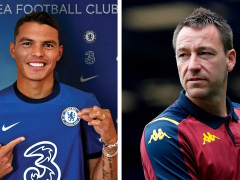 Chelsea legend John Terry reacts after Frank Lampard signs Thiago Silva on free transfer