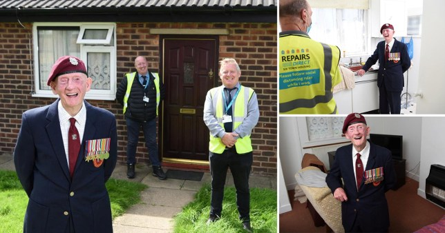 World War II hero gets bungalow redecorated to celebrate his 100th birthday