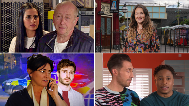 Alya and Geoff in Coronation Street, Lacey Turner in EastEnders: Secrets From The Square, Moira and Jamie in Emmerdale, Scott and Mitchell in Hollyoaks